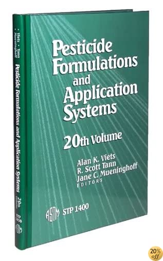 Pesticide Formulations and Application Systems STP1400 (Astm Special Technical Publication)