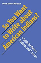 So You Want to Write About American…