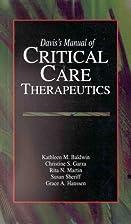 Davis's Manual of Critical Care Therapeutics…