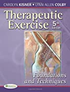 Therapeutic Exercise: Foundations and…