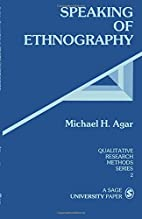 Speaking of Ethnography (Qualitative…
