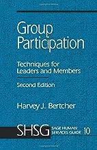 Group Participation : Techniques for Leaders…