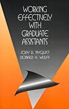Working Effectively with Graduate Assistants…
