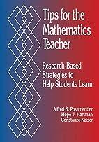 Tips for the Mathematics Teacher:…