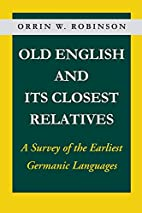 Old English and Its Closest Relatives by…