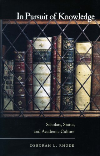 in-pursuit-of-knowledge-scholars-status-and-academic-culture-stanford-law-books