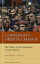 Continuity Despite Change: The Politics of…