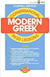 Cortina: Conversational Modern Greek: In 20 Lessons