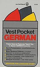 Vest Pocket German (Vest Pocket Series) by…
