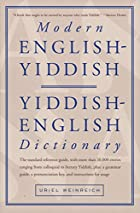 Modern English-Yiddish, Yiddish-English…