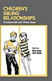 Frits BOER: Children's Sibling Relationships: Developmental and Clinical Issues