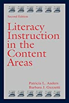 Literacy Instruction in the Content Areas…