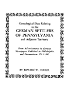 Genealogical Data Relating to the German…