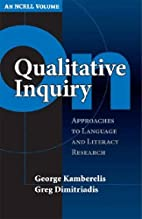 On Qualitative Inquiry: Approaches To…