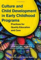 Culture and child development in early…