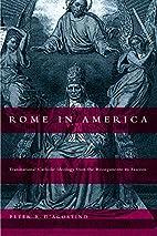 Rome in America: Transnational Catholic…