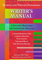 Writer's Manual (Contemporary's Reading and…