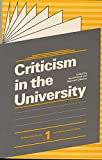 Graff, Gerald: Criticism in the University