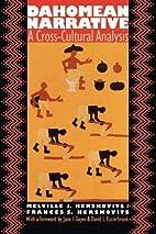 Dahomean Narrative a Cross-Cultural Analysis…
