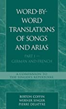 Word-By-Word Translations of Songs and…