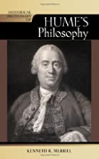 Historical Dictionary of Hume's Philosophy…