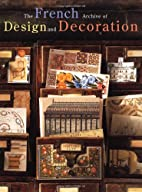 The French Archive of Design and Decoration…