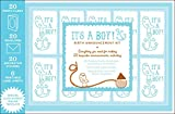 Chronicle Books Staff: It's a Boy!: Birth Announcement Kit