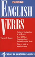 Barron's English Verbs by Vincent Hopper