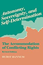 Autonomy, Sovereignty, and…