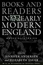 Books and Readers in Early Modern England:…