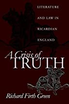 A Crisis of Truth: Literature and Law in…