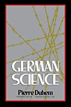German Science: Some Reflections on German…