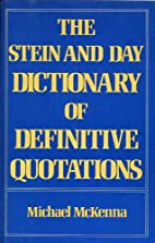 The Stein and Day dictionary of definitive…