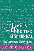Women Editing Modernism: Little Magazines…