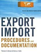 Export/Import Procedures and Documentation…