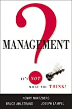 Management? It's Not What You Think! by…
