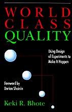 World Class Quality: Using Design of…
