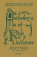 An Anthology of Irish Literature, Vol. 1 by…