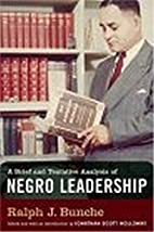 A Brief and Tentative Analysis of Negro…