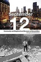 September 12: Community and Neighborhood…