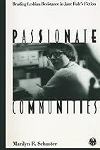 Passionate Communities: Reading Lesbian…