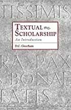 Textual Scholarship: An Introduction by D.…