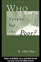 Who Speaks for the Poor: National Interest…