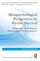 Metapsychological Perspectives on Psychic…