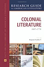Colonial Literature, 1607-1776 (Research…