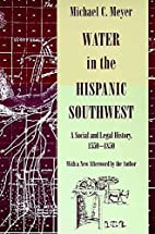 Water in the Hispanic Southwest: A Social…