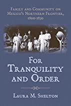 For Tranquility and Order: Family and…