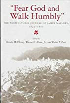 Fear God and Walk Humbly: The Agricultural…
