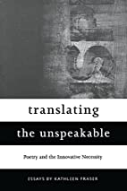 Translating the Unspeakable: Poetry and the…