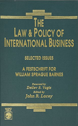 the-law-and-policy-of-international-business-selected-issues